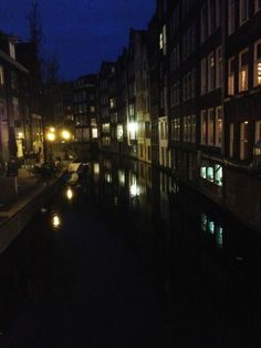 #Amsterdam Canales at night