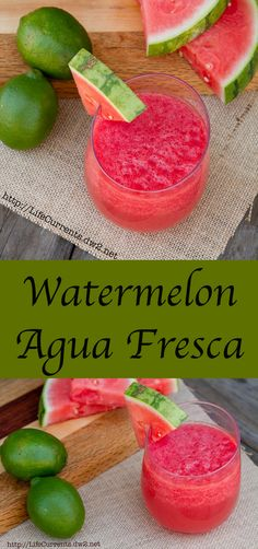 Watermelon Agua Fresca made with fresh watermelon; it's the perfect summer refresher, with two versions, one for the kids, and one for the adults.