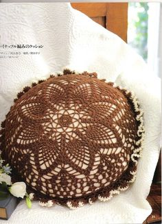 Beautiful pillow for home decor, free crochet patterns