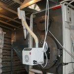 Καυστήρας πέλλετ σε λέβητα ξύλου Kiturami στη Μελίκη Ημαθίας (Αθηνά Ζέρβα)