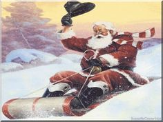 """hey i thought """"SANTA"""" used a sleigh not a toboggan ??!!! lol ??? well whatever gets ya there i guess ??!!... ooooo :o ) merry christmas ... happy new year !!..."""