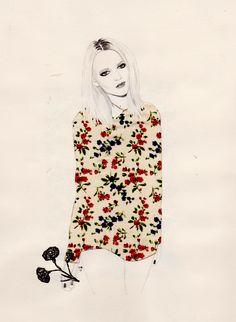spring has sprung - fashion illustration - miss mel