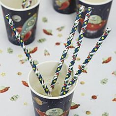 Space Adventure Paper Straws