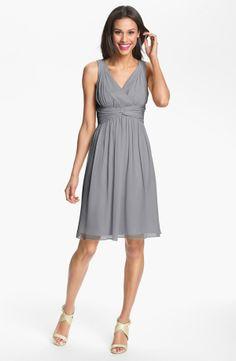 Donna Morgan 'Jessie' Twist Silk Chiffon Dress   Nordstrom