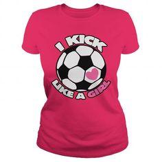 I Love I kick like a GIRL soccer team Shirts & Tees