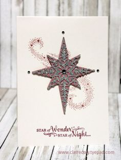 Stampin Up Holiday Catalogue 2016 sneak peek, Star of Light stamp set…