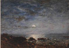 Felix Ziem - Martigues, l'étang de Berre au clair de lune