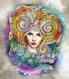 "Zodiac illustration ""ARIES"" on Behance"
