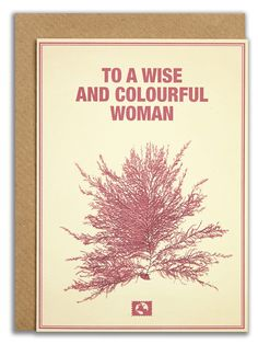 """""""To a wise and colourful woman"""". #messageearth #sustainable #greetingcards #sustainability #eco #design #ecodesign #vintage #cards #peculiar"""