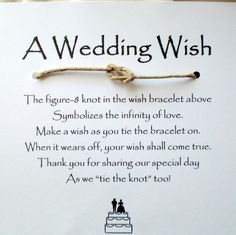 Tie the knot :) this is cute for a simple wedding favor.