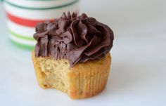 Paleo Vanilla Cupcakes | Easy Cupcake Recipe {those at goal weight can use a bit of honey-otherwise sub plan approved sweetener}