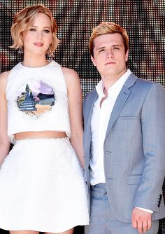 Jennifer Lawrence and Josh Hutcherson attends the 'The Hunger Games: Mockingjay Part 1' Photocall at the 67th Annual Cannes Film Festival.