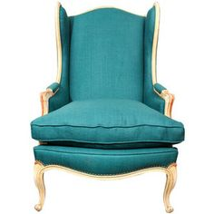 Turq linen french wing.  Already have the chair, but I love this fabric on it