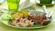 Lækker slankeopskrift på karbonader med stuvede rodfrugter
