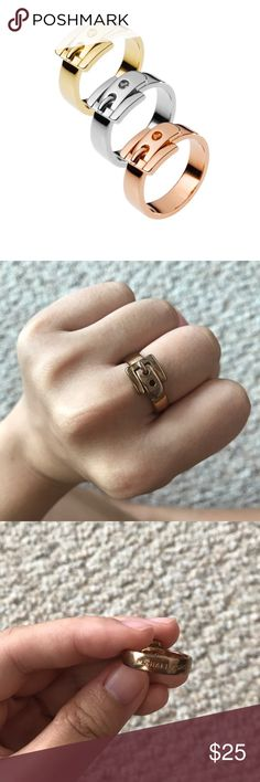 Michael Kors Belt shaped Ring in Rose Gold Michael Kors Belt shaped Ring in Rose Gold, in very good condition, comes with original dust bag. Size 7 Michael Kors Jewelry Rings #GoldJewelleryMichaelKors