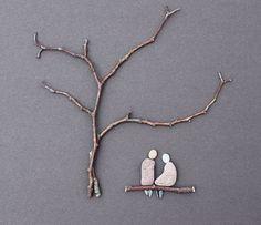 pebble art – so cute! pebble art – so cute! Stone Crafts, Rock Crafts, Arts And Crafts, Art Crafts, Pebble Pictures, Stone Pictures, Twig Art, Circle Crafts, Rock Sculpture