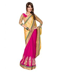 Viva N Diva Yellow Color Bamber  Buy Ready to wear Lehnga ,choli suit and saree #saree #cholisuit #readytowearsaree http://www.girlsfashionsense.com/