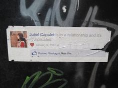 "Shakespearean Facebook Street ""Art"""