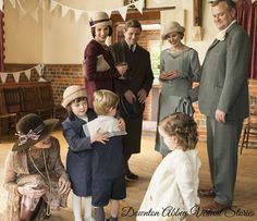 I love seeing Tom back at Downton with his daughter...fun with family. Season 6