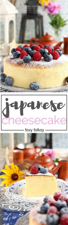 Try this Japanese Cheesecake or cotton cheesecake recipe for a super fluffy, light-as-air cheesecake you will ever make. | http://www.foxyfolksy.com