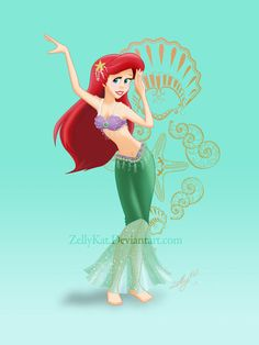 Ariel Belly Dancer OUTFIT #4