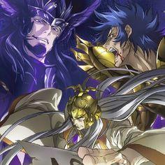 The lost canvas Manga Art, Manga Anime, Anime Art, Anime Comics, Saint Seiya Lost Canvas, Knights Of The Zodiac, Animes Wallpapers, Manga Games, Pictures To Draw