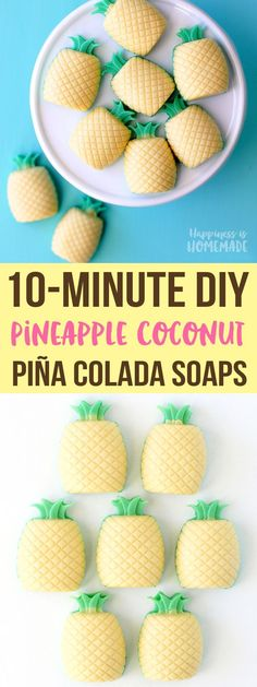 Tropical DIY Piña Colada Sugar Scrub and Mini Soaps are the perfect way to keep your summer skin fresh and ready to show off! Pineapple + Coconut = YUM! #soapmaking