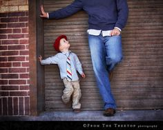 very cute father/son photo!