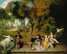 Jean-Antoine Watteau - Reunion en plein air