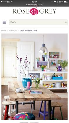 Love the simple table with all the color added