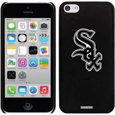 Chicago White Sox Sox Design on Apple iPhone 5c Thinshield Snap-On Case by Coveroo, Black