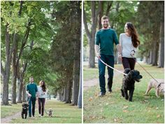 Guelph, Ontario engagement session with dogs by Madison Rose Photography