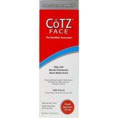 CōTZ FACE, for Natural Skin Tones, SPF 40 and Lighter to Fair Skin Tones, SPF 40