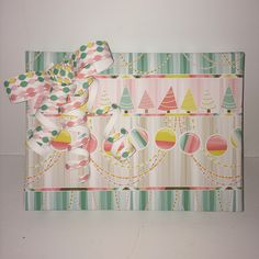 Vintage holiday gift wrap
