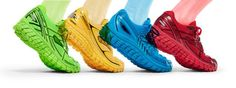 Run the rainbow in our new Vivid collection at select retailers. Available in four models. #runhappy