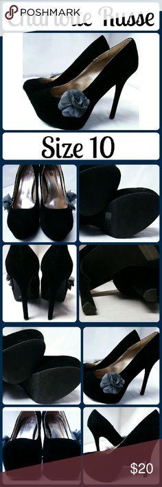 """❗NEW Sz 10 Charlotte Russe Black Velvet Heels Fantastic black velvet heels, never worn, 4"""" heel Charlotte Russe Shoes Heels"""