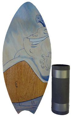 Vew-Do VEWDO Mini Balance Board Tabla de Equilibrio Juvenil Unisex de Madera 66 x 20 cm