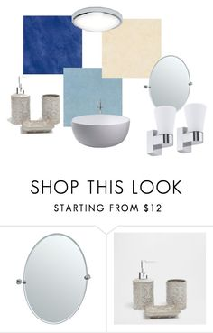 """Ванная 3"" by zilyakamalova on Polyvore featuring interior, interiors, interior design, дом, home decor, interior decorating, Gatco и Zara Home"