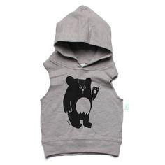Baby sleeveless hood - baby bear
