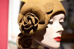 Cloche Wool Felt 30's Hat by TheTarrowBoutique on Etsy, $72.00