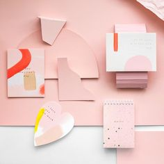 Pink inspiration from moglea painted cards. #design