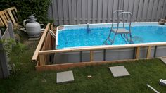 (notitle) – [pin_pinter_full_name] (notitle) Homemade Swimming Pools, Diy Swimming Pool, Diy Pool, Intex Above Ground Pools, Above Ground Pool Ladders, In Ground Pools, Oberirdischer Pool, Pool Decks, Piscina Intex