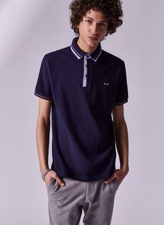 Polo con cuello oxford - Camisetas y polos | Adolfo Dominguez shop online