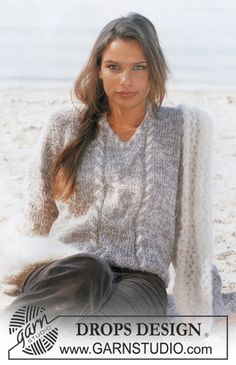 Ravelry: 80-6 a Pullover in Karisma Superwash and Vivaldi pattern by DROPS design