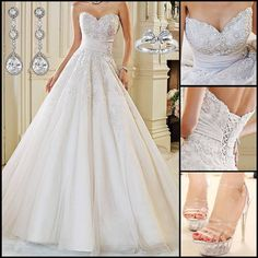 So beautiful wedding dress makes you different from others!