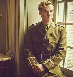 Benedict Cumberbatch in Parade's End. His hair may have been horrible, but DAMN he looks good in that uniform.