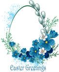 Vector Clip Art of Easter banner with spring flowers - Easter greetings card... csp7925591 - Search Clipart, Illustration, Drawings, and EPS...