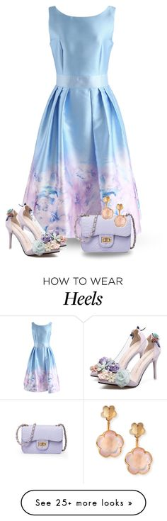 """Floral Stilettos"" by majezy on Polyvore featuring Chicwish, WithChic and Pasquale Bruni"