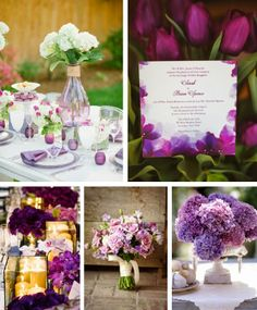 Unique Color Inspiration for Your Spring Wedding - Purple Wedding Ceremony and Reception Details #springwedding #purplewedding #weddingcolorinspiration