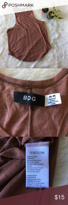 BDG Brown Tank This High collar tank is in excellent condition! Size medium. No flaws. Smoke and pet free home. No trades. Offers welcome! Bundle and save! Urban Outfitters Tops Tank Tops